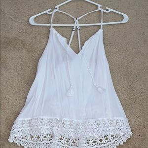 White Abercrombie and Fitch Tank top